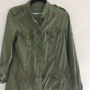 Maurice's army green utility jacket small